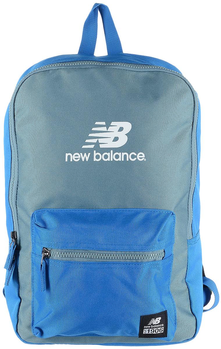 Рюкзак городской New Balance Booker JR Backpack, цвет: голубой, серый, 11 л500046/EBСтильный городской рюкзак New Balance Booker JR Backpack выполнен из полиэстера и оформлен фирменной символикой. Изделие имеет одно отделение, которое застегивается на застежку-молнию. Снаружи, на передней стенке расположен накладной объемный карман на застежке-молнии. Рюкзак оснащен широкими регулируемыми лямками и ручкой для переноски в руке. Уплотненная спинка обеспечивает комфорт при переноске рюкзака.