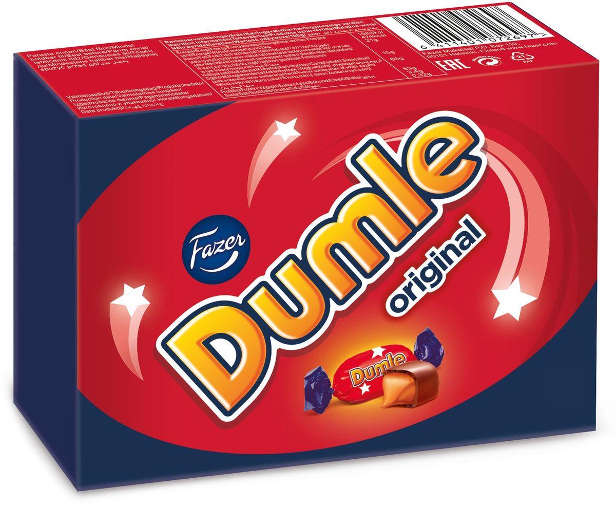 Свою истоирю бренд Dumle ведет с 1945 года, когда впервые был выпущен на рынок леденец на палочке Dumle, а когда в 1980-е годы появился мягкий сливочный ирис Dumle, то успех был феноменальным. Сегодня мягкий сливочный ирис в шоколаде Dumle Original является самым популярным карамельным ирисом в Швеции. Шелковисто-мягкий сливочный ирис в шоколаде – любимые конфеты тех, кто хочет оставаться в душе ребенком!