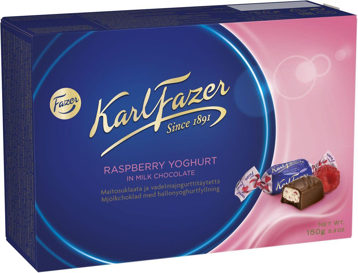 Karl Fazer конфеты молочный шоколад с малиновым йогуртом, 150 г 5859