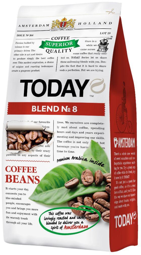 Today Blend кофе в зернах №8, 200 г5060300570431Arabica Blend №8 из лучших кофейных зерен южноамериканской Арабики, искусно обжаренных для вас. Вкус кофе плотный, слегка маслянистый с пикантной горьковато-сладкой нотой. Аромат яркий с еле уловимой горечью в послевкусии. Arabica Blend №8 понравится вам. Попробуйте особенный кофе сегодня и пейте всегда, наслаждаясь...