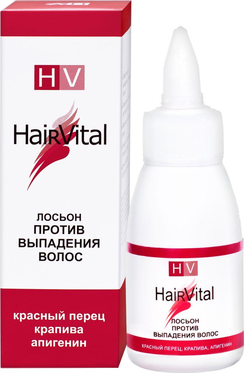 Hair Vital Лосьон против выпадения волос, 50 мл72242• Предотвращает выпадение и повреждение волос • Стимулирует и ускоряет рост новых волос • Продлевает срок жизни волос • Утолщает и укрепляет стержень волоса • Улучшает питание волосяных луковиц Активные компоненты: экстракты крапивы и красного перца, олеаноловая кислота, апигенин, лизолецитин, биотиноил трипептид-1