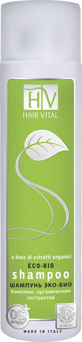 Hair Vital Шампунь Эко-Био, 250 мл70640Содержит 97% натуральных ингредиентов. Не содержит силиконов, парабенов и красителей. Имеет сертификат ICEA (органическая сертификация в Италии) • Бережно очищает волосы без утяжеления • Нормализует работу сальных желез • Питает кожу, придает волосам блеск и эластичность • Подходит для ежедневного использования Активные компоненты: экстракт календулы лекарственной, эхинацея узколистная, чайное дерево масло, эвкалипт шаровидный масло, OG2
