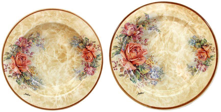 Набор тарелок LCS Элианто: суповая, 23,5 см, обеденная, 25 см26486Набор тарелок: суповая (23,5 см,)+ обеденная (25 см,) Элианто LCS - молодая, динамично развивающаяся итальянская компания из Флоренции, производящая разнообразную керамическую посуду и изделия для украшения интерьера. В своих дизайнах LCS использует как классические, так и современные тенденции. Высокий стандарт изделий обеспечивается за счет соединения высоко технологичного производства и использования ручной работы профессиональных дизайнеров и художников, работающих на фабрике.