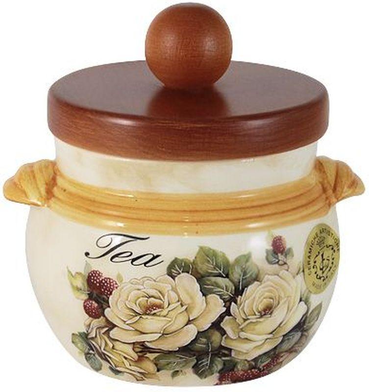 Банка для сыпучих продуктов LCS Роза и малина. Чай, с деревянной крышкой, 0,5 л54170Банка для сыпучих продуктов с деревянной крышкой (чай),0,5л Роза и малина LCS - молодая, динамично развивающаяся итальянская компания из Флоренции, производящая разнообразную керамическую посуду и изделия для украшения интерьера. В своих дизайнах LCS использует как классические, так и современные тенденции. Высокий стандарт изделий обеспечивается за счет соединения высоко технологичного производства и использования ручной работы профессиональных дизайнеров и художников, работающих на фабрике.
