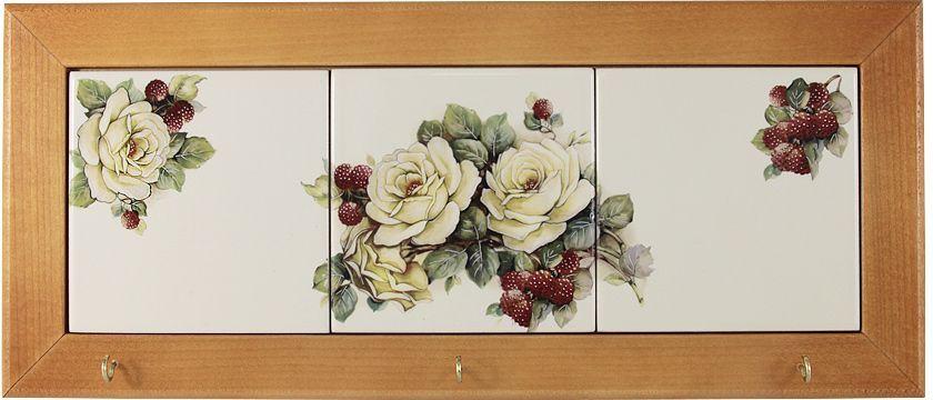Вешалка для полотенец LCS Роза и малина, 35 х 15 см54189Вешалка для полотенец 35х15см Роза и малина LCS - молодая, динамично развивающаяся итальянская компания из Флоренции, производящая разнообразную керамическую посуду и изделия для украшения интерьера. В своих дизайнах LCS использует как классические, так и современные тенденции. Высокий стандарт изделий обеспечивается за счет соединения высоко технологичного производства и использования ручной работы профессиональных дизайнеров и художников, работающих на фабрике.