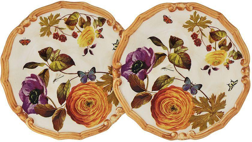 Набор десертных тарелок LCS Элеганс, 20,5 см, 2 шт54131Набор из 2-х десертных тарелок 20,5 см Элеганс LCS - молодая, динамично развивающаяся итальянская компания из Флоренции, производящая разнообразную керамическую посуду и изделия для украшения интерьера. В своих дизайнах LCS использует как классические, так и современные тенденции. Высокий стандарт изделий обеспечивается за счет соединения высоко технологичного производства и использования ручной работы профессиональных дизайнеров и художников, работающих на фабрике.