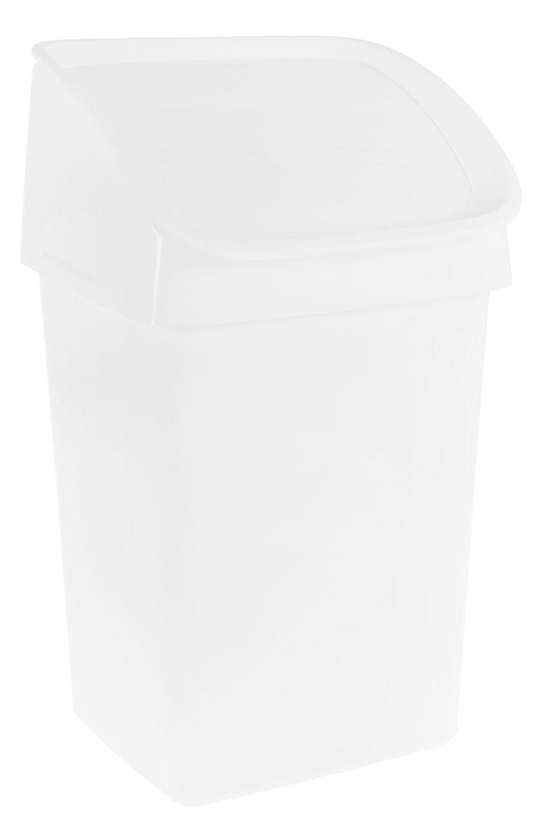 Ведро мусорное Tescoma CleanKit, цвет: белый, 21 л900684Мусорное ведро для кухни Tescoma CleanKit выполнено из прочного пластика. Можно полностью откинуть крышку, если вам необходимо выбросить что-то крупное, а для мелкого мусора есть самозакрывающееся окошко. Поставляется в комплекте с крючком для подвешивания щетки и совка на заднюю стенку ведра.