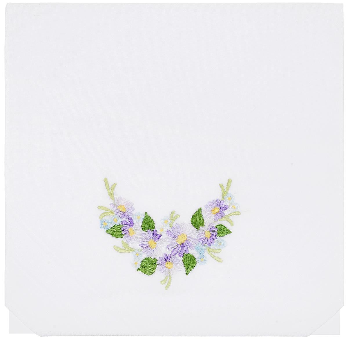 Платок носовой женский Zlata Korunka, цвет: белый. 19701-3. Размер 30 см х 30 см19701-3Оригинальный женский носовой платок Zlata Korunka изготовлен из высококачественного натурального хлопка, благодаря чему приятен в использовании, хорошо стирается, не садится и отлично впитывает влагу. Практичный и изящный носовой платок будет незаменим в повседневной жизни любого современного человека. Такой платок послужит стильным аксессуаром и подчеркнет ваше превосходное чувство вкуса.