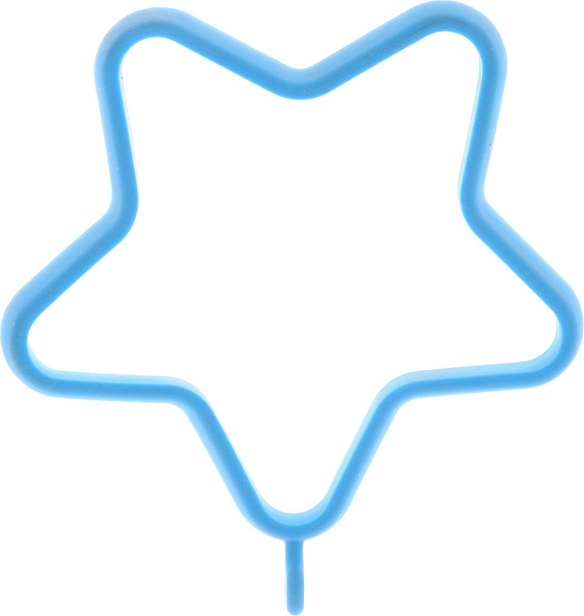 Форма для яичницы Oursson Звезда, 13,5 х 11,4 х 1 смBW1356S/MC_голубойФорма для яичницы Oursson Звезда, выполненная из жаростойкого силикона, подходит для приготовления яичницы, омлета, оладий! Она добавит оригинальности обычным блюдам и особенно понравится детям! Форма не повреждает антипригарное покрытие сковород. Для получения идеального результата рекомендуется использовать ее на ровной поверхности сковороды. Размер формы: 13,5 х 11,4 х 1 см