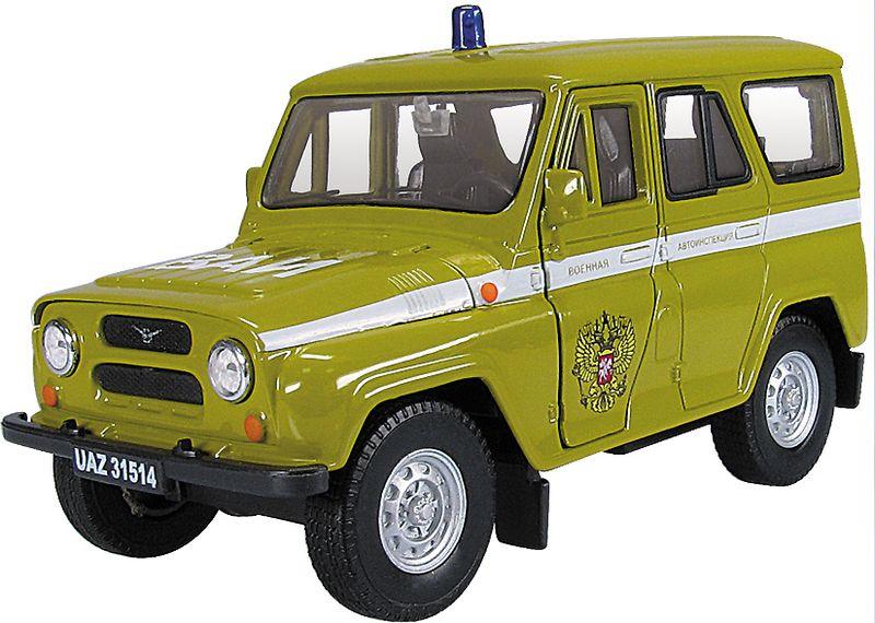 Autotime Модель автомобиля УАЗ-31514 ВАИ autotime модель автомобиля мaz 5335 цвет оранжевый