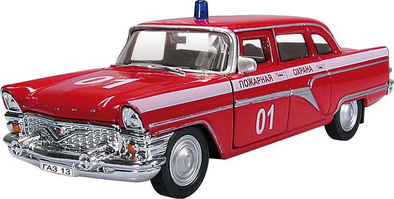 Autotime Модель автомобиля ГАЗ-13 Чайка Пожарная охрана autotime модель автомобиля мaz 5335 цвет оранжевый