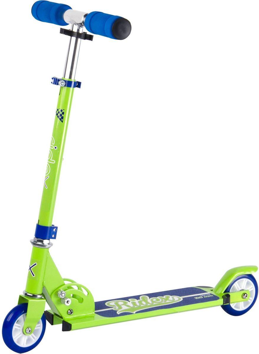 Самокат Ridex Drifter, 2-колесный, цвет: салатовый, синий, 100 ммУТ-00009702Самокат бренда Ridex с колёсами 100 миллиметров – наиболее подходящая модель для езды по ровной поверхности, ориентированная на юных любителей катания. Сочетание ярких сочных цветов самоката Drifter понравится как озорному мальчугану, так и задорной девчонке. Модель отличается надежностью конструкции и маневренностью: небольшие колеса с качественными подшипниками ABEC - 7 обеспечат развитие безопасной скорости, мягкие пенные ручки гарантируют приятное, комфортное сцепление с ладонями.