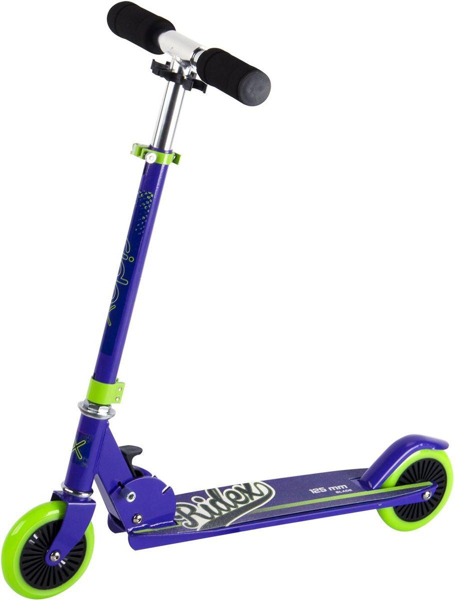 Самокат Ridex Blade, 2-колесный, цвет: фиолетовый, салатовый, 125 ммУТ-00009703Модель самоката бренда Ridex с колёсами 125 миллиметров, подходящая как для спокойного катания, так и для весёлых игр подрастающих райдеров. Самокат обладает всеми характеристиками, обеспечивающими безопасность Вашего ребенка. Небольшие полиуретановые колеса маневренны и аккуратны на поворотах, а мягкие пенные ручки гарантируют приятное сцепление с ладонями . Яркий дизайн позволит Вашему чаду похвастаться перед сверстниками и несомненно понравится всем окружающим!