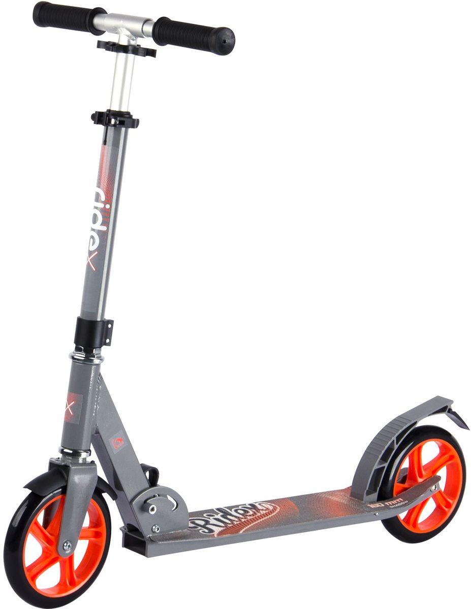 Самокат Ridex Shadow, 2-колесный, цвет: серый, оранжевый, 180 ммУТ-00009708Модель самоката бренда Ridex подходит как подрастающим, так и взрослым райдерам для катания по ровным асфальтированным дорожкам и мелкой плитке, благодаря полиуретановым колесам, диаметр которых 180 миллиметров. Большие колеса, которые укомплектованы качественными подшипниками ABEC – 7, позволяют преодолевать длительные расстояния, наслаждаясь процессом катания. Прочная алюминиевая конструкция обеспечивает надежность и износостойкость самоката, а удобные резиновые ручки создают прочное сцепление с ладонями. Стильный, сдержанный дизайн отлично впишется в городскую среду!
