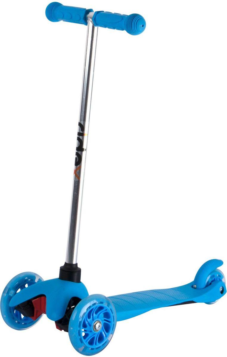 Самокат Ridex 3D Kinder, 3-колесный, цвет: синий, 120/80 мм. УТ-00009719УТ-00009719Трехколесный самокат бренда Ridex создан для детей, только начинающих осваивать данный способ передвижения. Благодаря устойчивости самоката ребенку не надо контролировать равновесие, а можно сосредоточиться на таких навыках, как отталкивание ногой, управление рулём и торможение. Прочная пластиковая дека обеспечит комфортное катание, а резиновые ручки поспособствуют прочному сцеплению с ладонями. Светящиеся колёса, без сомнений, станут поводом для искренней детской радости и восторженных взглядов окружающих!