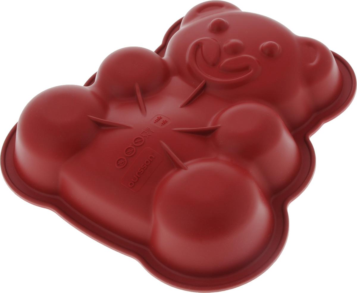 Форма для выпечки Oursson Медведь, силиконовая, 25 х 24 х 5 смBW2500S/RRФорма для выпечки Oursson Медведь, выполненная из силикона, будет отличным выбором для всех любителей домашней выпечки. Форма имеет форму медвежонка. Силиконовые формы для выпечки имеют множество преимуществ по сравнению с традиционными металлическими формами и противнями. Нет необходимости смазывать форму маслом. Она быстро нагревается, равномерно пропекает, не допускает подгорания выпечки с краев или снизу. Вынимать продукты из формы очень легко. Слегка выверните края формы или оттяните в сторону, и ваша выпечка легко выскользнет из формы. Материал устойчив к фруктовым кислотам, не ржавеет, на нем не образуются пятна. Форма может быть использована в духовках и микроволновых печах (выдерживает температуру от -20°С до +220°С), также ее можно помещать в морозильную камеру и холодильник. Размер формы: 25 х 24 х 5 см.