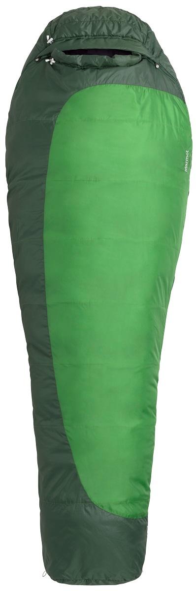 Спальный мешок Marmot Trestles 30, цвет: зеленый, правая молния21180-4724-RZСпальник прошел европейскую сертификацию EN Test. Утеплитель SpiraFil. Двусторонние молнии. Конструкция Wave - слои утеплителя уложены волнами с перекрытием для максимального сохранения тепла. В этом спальнике не страшна самая суровая непогода. 3D-конструкция капюшона. Трапециевидный отдел для ног для большего комфорта. Компрессионный мешок в комплекте. Чувствительные шнуры - различимы в темноте на ощупь. Утягивающий шнур капюшона легко регулируется. Вторая застежка-молния в верхней части спальника. Антизакусывающая планка вдоль молнии. Карман для мелочей - например, часов или батареек. 2 петли для сушки и для проветривания спальника. Двусторонние молнии – для вентиляции и состегивания спальников. Двусторонние ползунки на молниях позволяют использовать их как вне, так и снаружи спальника. Валик вокруг лица без липучки - для большего комфорта. Молния защищена от «закусывания».