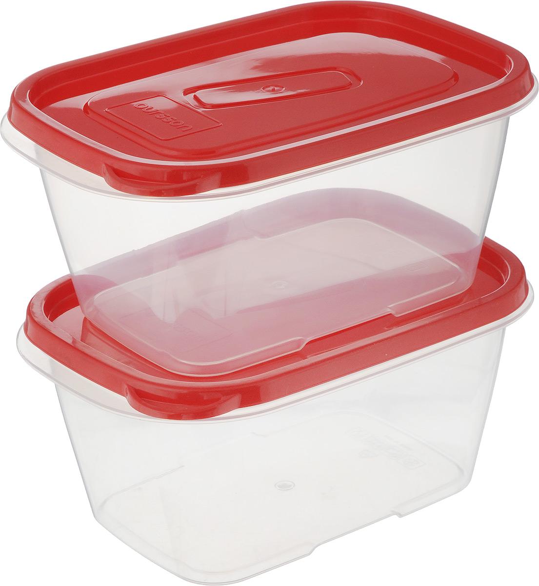 Набор контейнеров Oursson, прямоугольные, 1,1 л, 2 штCP2283S/RDНабор Oursson состоит из двух контейнеров, которые изготовлены из высококачественного пластика. Изделие идеально подходит не только для хранения, но и для транспортировки пищи. Контейнеры оснащены плотно закрывающимися крышками. Выдерживают температуру от -24°С до +125°С. Можно использовать в СВЧ-печах, холодильниках и морозильных камерах. Можно мыть в посудомоечной машине. Размер контейнера (без учета крышки): 19 х 13 см. Высота контейнера (без учета крышки): 8,5 см. Объем контейнера: 1,1 л.