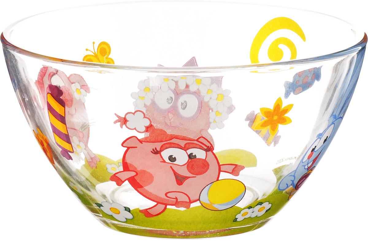 Смешарики Салатник детский Конфеты диаметр 13 смСШС130-1Детский салатник Смешарики Конфеты идеально подойдет для кормления малыша и самостоятельного приема им пищи. Салатник выполнен из натрий-кальций-силикатного стекла и оформлен высококачественным изображением героев мультфильма Смешарики. Такой подарок станет не только приятным, но и практичным сувениром, добавит ярких эмоций вашему ребенку! Не подходит для использования в СВЧ-печи и посудомоечной машине.