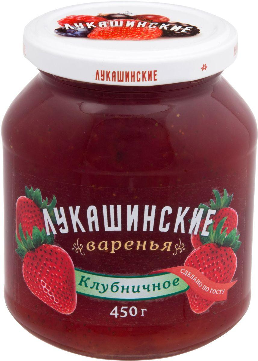 Лукашинские варенье клубничное, 450 г