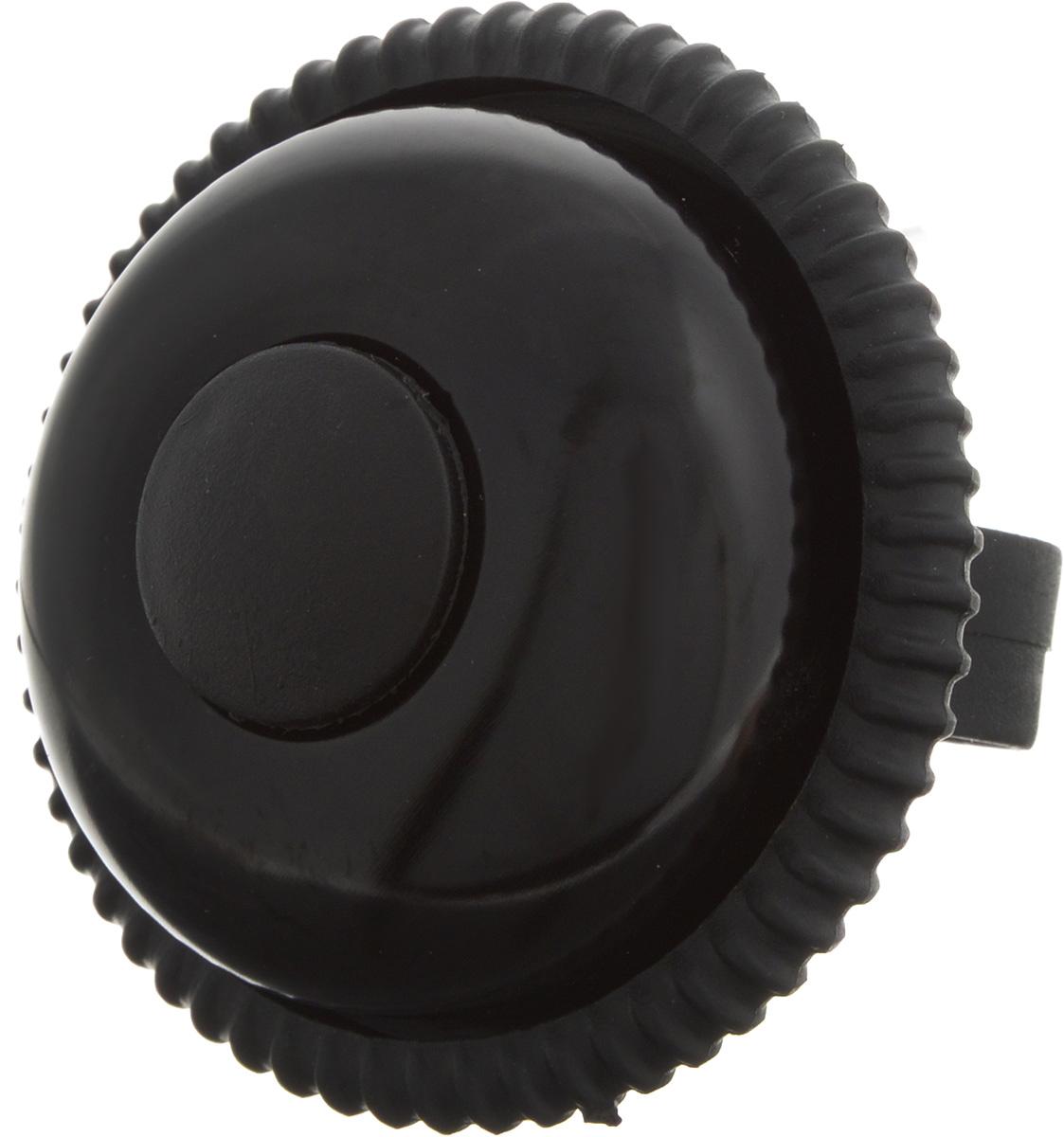 Звонок велосипедный Stern, цвет: черныйCRH-3.Звонок Stern изготовлен из металла и пластика. Изделие крепится на руль велосипеда и позволяет привлечь внимание в опасных ситуациях. Оригинальный звонок сделает вашу езду безопасной. Диаметр звонка: 6,5 см.