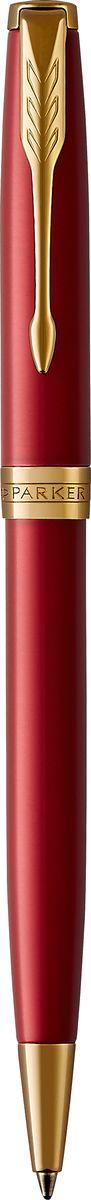 Parker Ручка шариковая Sonnet Laque Red GTPARKER-1931476Материал корпуса: Нержавеющая сталь Покрытие корпуса: Глянцевый лак глубокого красного цвета Материал отделки деталей корпуса: Торец ручки: латунь, покрытая золотом. Кольцо: латунь, покрытая золотом. Способ подачи стержня: Поворотный Сделано во Франции.