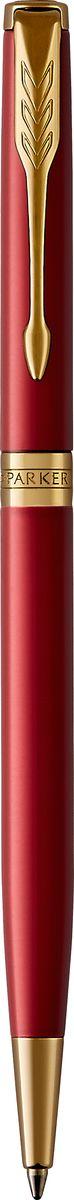 Parker Ручка шариковая Sonnet Slim Laque Red GTPARKER-1931477Шариковая ручка Parker Sonnet Slim Red GT - идеальный инструмент для письма. Материал ручки - нержавеющая сталь с покрытием глянцевого лака глубокого красного цвета, в отделке применяется позолота 23К. Зона захвата - пластик. Способ подачи стержня: поворотный. Данный пишущий инструмент поставляется в фирменной подарочной коробке премиум-класса, что делает его превосходным подарком. Произведено во Франции.