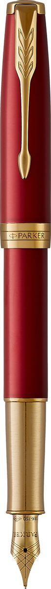 Parker Ручка перьевая Sonnet Laque Red GTPARKER-1931478Материал корпуса: Нержавеющая сталь Покрытие корпуса: Глянцевый лак глубокого красного цвета Материал отделки деталей корпуса: Торец ручки: латунь, покрытая золотом. Зажим колпачка: сталь, покрытая золотом. Кольцо: латунь, покрытая золотом. Зона захвата из отполированной нержавеющей стали, покрытой золотом. Перо - Позолота 18К Способ подачи стержня: Колпачок Вложение Конвертер Deluxe и 2 черных картриджа Сделано во Франции.