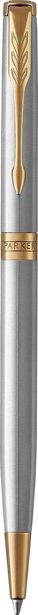 Parker Ручка шариковая Sonnet Slim Stainless Steel GTPARKER-1931508Шариковая ручка Parker Sonnet Slim Stainless Steel GT - идеальный инструмент для письма. Материал ручки - шлифованная нержавеющая сталь, в отделке применяется позолота 23К. Способ подачи стержня: поворотный. Произведено во Франции.