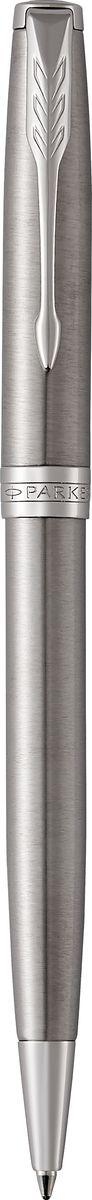 Parker Ручка шариковая Sonnet Stainless Steel CTPARKER-1931512Материал корпуса: Нержавеющая сталь Покрытие корпуса: Шлифованная нержавеющая сталь Материал отделки деталей корпуса: Торец ручки: латунь, покрытая палладием. Зажим колпачка: сталь, покрытая палладием. Кольцо: латунь, покрытая палладием. Способ подачи стержня: Поворотный Сделано во Франции.