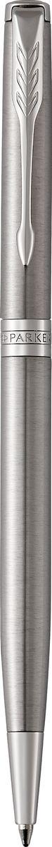 Parker Ручка шариковая Sonnet SLIM Stainless Steel CTPARKER-1931513Материал корпуса: Нержавеющая сталь Покрытие корпуса: Шлифованная нержавеющая сталь Материал отделки деталей корпуса: Торец ручки: латунь, покрытая палладием. Зажим колпачка: сталь, покрытая палладием. Кольцо: латунь, покрытая палладием. Способ подачи стержня: Поворотный Сделано во Франции.