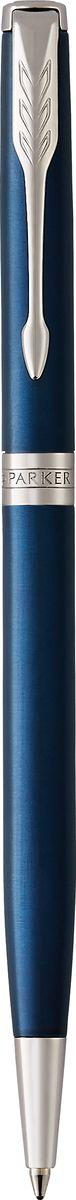 Parker Ручка шариковая тонкая Sonnet Laque Blue CTPARKER-1945365Материал корпуса: Нержавеющая сталь Покрытие корпуса: Глянцевый лак изысканного синего цвета Материал отделки деталей корпуса: Торец ручки: латунь, покрытая палладием. Зажим колпачка: сталь, покрытая палладием. Кольцо: латунь, покрытая палладием. Способ подачи стержня: Поворотный Сделано во Франции.