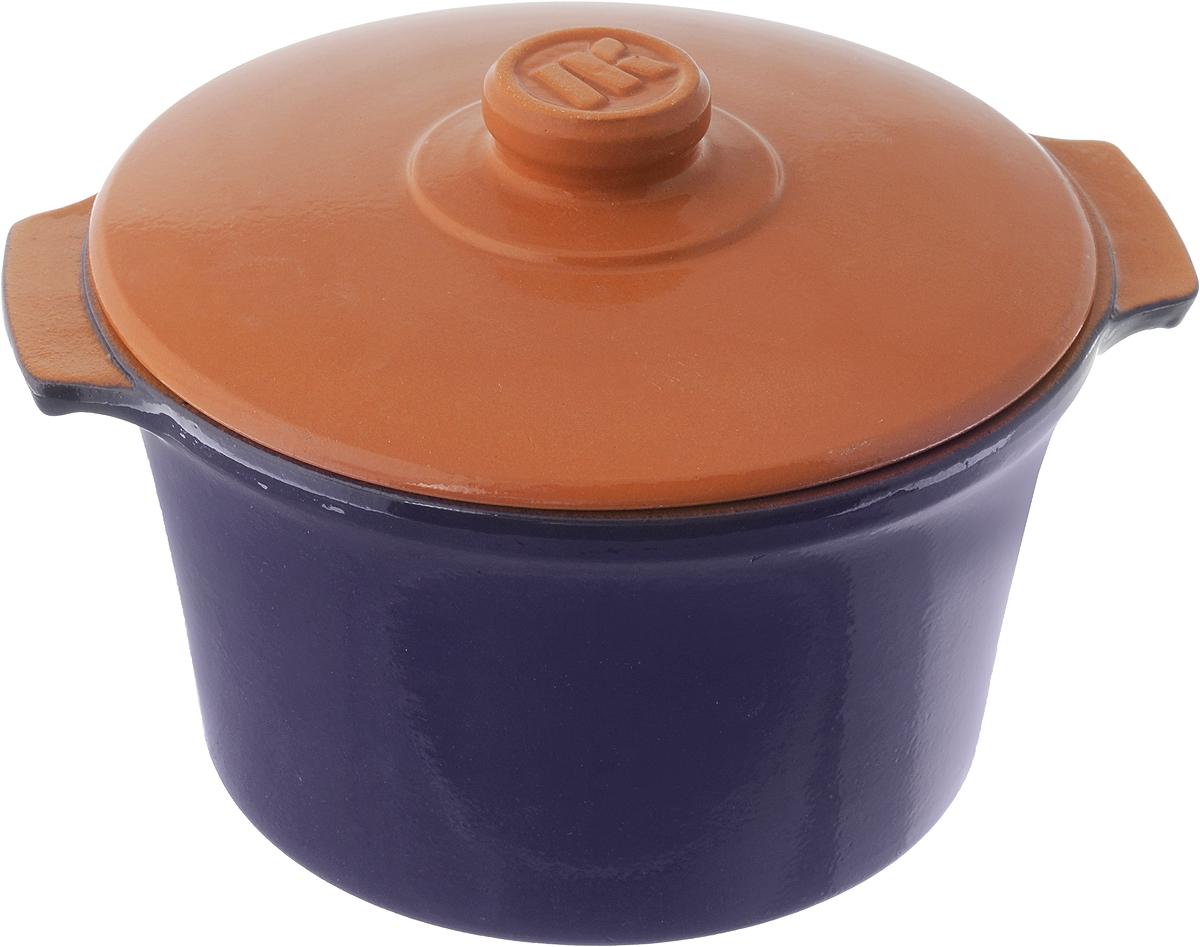 Кастрюля керамическая Ломоносовская керамика Огонек с крышкой, цвет: синий, 2 л1КТс-2Кастрюля Ломоносовская керамика Огонек выполнена из высококачественной термостойкой керамики. Покрытие абсолютно безопасно для здоровья, не содержит вредных веществ. Кастрюля оснащена удобными боковыми ручками и керамической крышкой. Она плотно прилегает к краям посуды, сохраняя аромат блюд. Подходит кастрюля для использования на всех типах плит. Для использования на индукционных плитах требуется специальный диск. Благодаря термостойкости материала, кастрюлю можно использовать в духовке и СВЧ. Разрешено мыть в посудомоечной машине. Диаметр: 20 см. Высота стенки: 11,5 см. Диаметр дна: 15 см. Ширина кастрюли (с учетом ручек): 22,5 см. Диаметр крышки: 20 см.