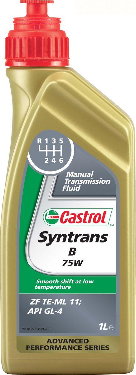 Трансмиссионое масло для механических кпп Castrol Syntrans B 75W, 1 л154F9FОписание Castrol Syntrans B 75W – полностью синтетическое трансмиссионное масло, одобренное по спецификации ZF TE-ML 11, для использования в продольно расположенных механических коробках передач автомобилей BMW. Преимущества - Превосходная защита шестерен и подшипников, что особенно важно в работе продольно расположенных механических коробок передач. - Исключительная текучесть при низких температурах способствует плавному переключению передач. - Высокая стабильность к сдвигу обеспечивает постоянную величину вязкости в течение срока службы масла. - Отличные термическая стабильность и стойкость к окислению поддерживают чистоту деталей механической коробки передач, продлевают срок службы масла и защищают уплотнения. Спецификации API GL-4 ZF TE-ML 11