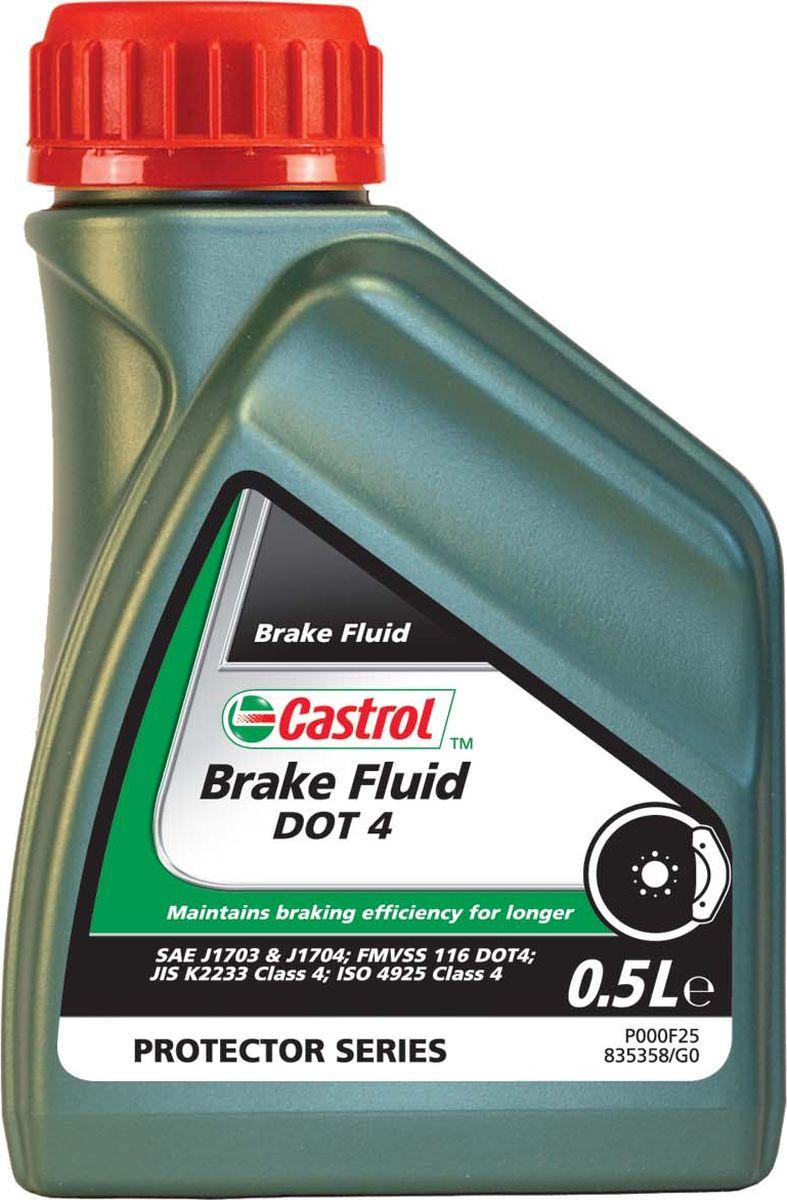 Тормозная жидкость Castrol Brake Fluid DOT4, 500 мл