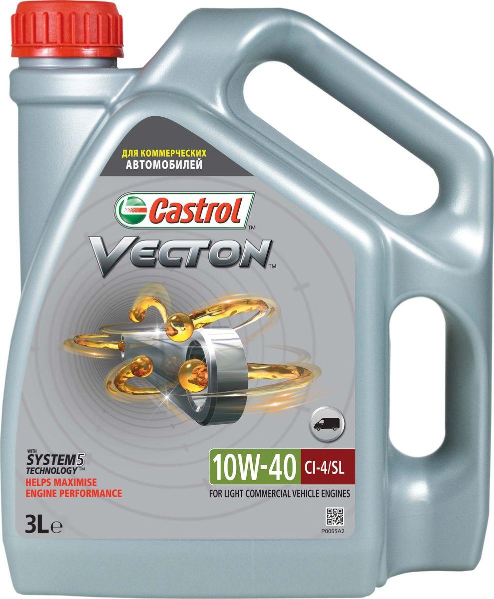"""Моторное масло Castrol Vecton 10W-40, 3 л15723DОписание Castrol Vecton 10W-40 – моторное масло с синтетическими компонентами для дизельных двигателей коммерческой техники европейских и американских производителей. Произведено с использованием уникальной технологии """"System 5""""TM, позволяющей достичь повышения эффективности работы масла вплоть до 40%*. Применение Castrol Vecton 10W-40 предназначено для дизельных двигателей грузовых автомобилей, автобусов, а также строительной, горной и сельскохозяйственной техники европейских и американских производителей Преимущества Современные двигатели работают в постоянно изменяющихся условиях, которые влияют на эффективность их работы. Castrol Vecton 10W-40 c технологией """"System 5""""TM адаптируется к этим изменениям, позволяя максимально реализовать следующие ключевые эксплуатационные характеристики: 1 потребление топлива: противостоит повышению вязкости масла, сохраняя оптимальный расход горючего; 2 расход масла: предотвращает образование отложений на поршне, снижая потребление смазочного..."""