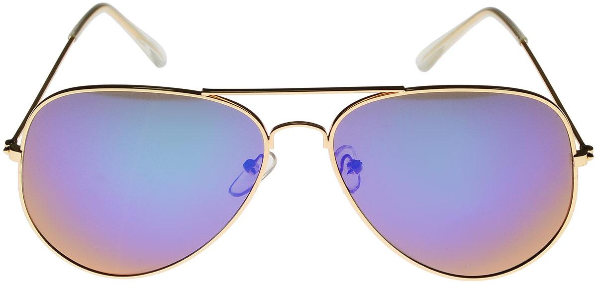 Очки солнцезащитные женские Vittorio Richi, цвет: золотистый, голубой. ОС3028/17fОС3028/17fОчки солнцезащитные Vittorio Richi это знаменитое итальянское качество и традиционно изысканный дизайн.
