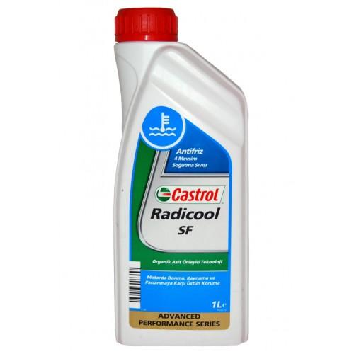 Антифриз Castrol Radicool SF, 1 л, G12+155FA2Описание Castrol Radicool SF – концентрат охлаждающей жидкости с увеличенными интервалами замены на основе моноэтиленгликоля и передовой карбоксилатной технологии. В отличие от традиционных низкозамерзающих охлаждающих жидкостей, Castrol Radicool SF не содержит аминов, нитритов, фосфатов, силикатов или других неорганических ингибиторов коррозии. Castrol Radicool SF обеспечивает превосходную защиту от коррозии, особенно двигателей выполненных из легких металлов. Предназначен для применения в бензиновых и дизельных двигателях широкого ряда транспортных средств, включая легковые и грузовые автомобили, автобусы, что позволяет использовать его в смешанных парках техники. Castrol Radicool SF обеспечивает эффективное охлаждение двигателя в широком диапазоне рабочих температур во всех климатических условиях. Применение Специально подобранный пакет присадок Castrol Radicool SF даёт возможность использовать его с увеличенными интервалами замены, обеспечивая отличную защиту против коррозии,...