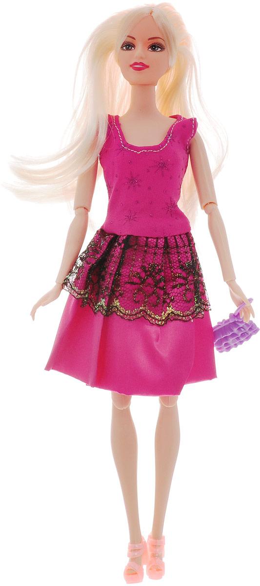 Veld-Co Кукла Модница цвет платья розовый