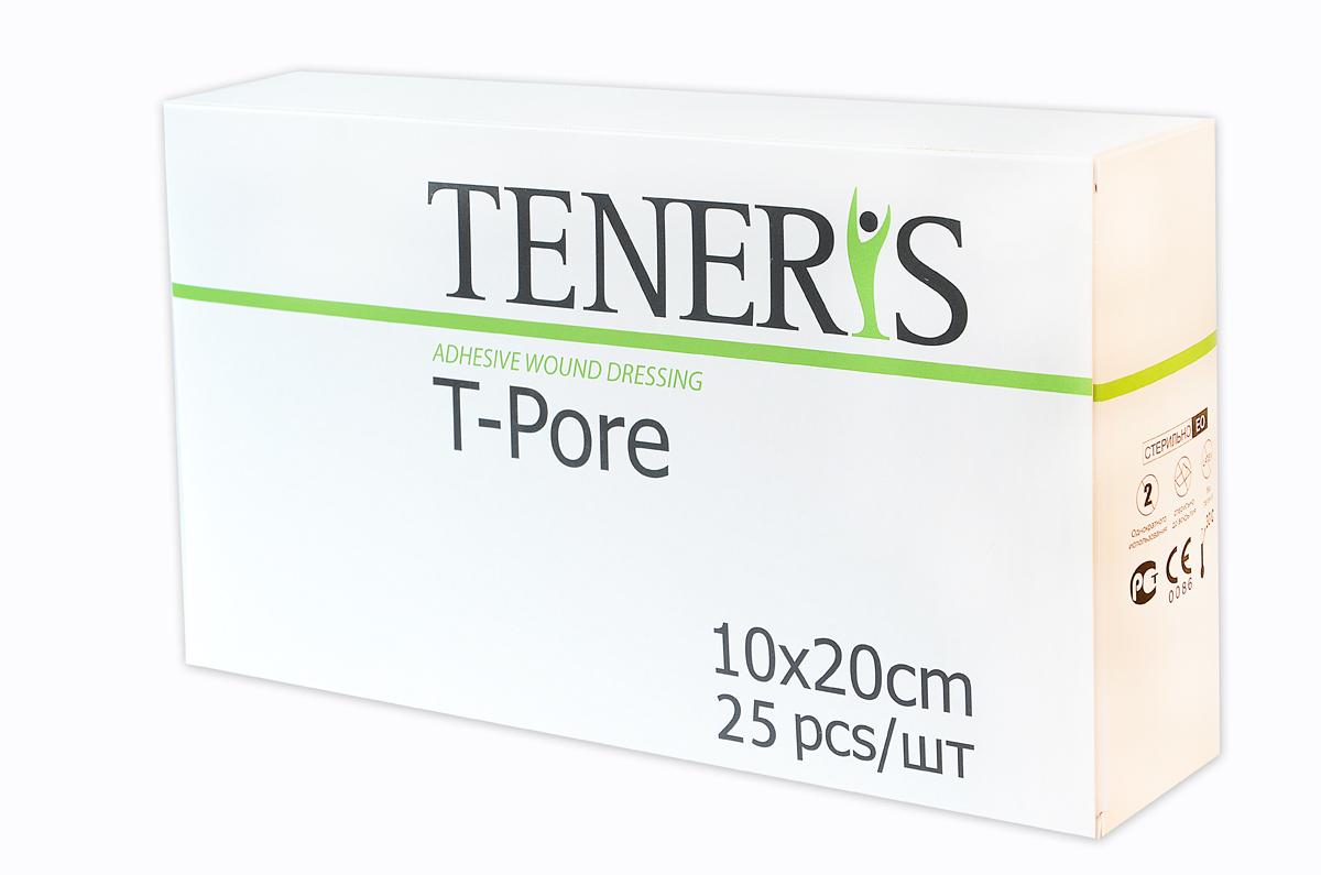Teneris Раневая (послеоперационная) стерильная повязка на нетканной основе T-Pore, 65 х 255 х 145 мм, 25 шт