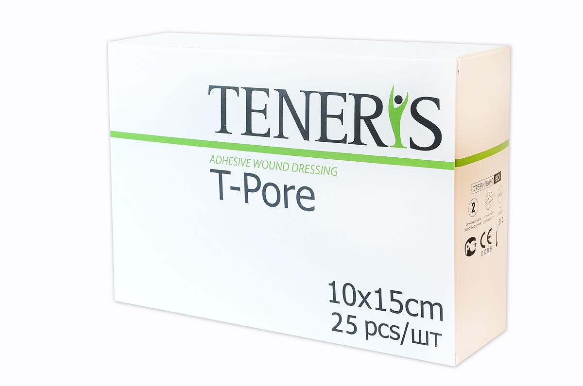 Teneris Раневая (послеоперационная) стерильная повязка на нетканной основе T-Pore, 65 х 205 х 145 мм, 25 шт