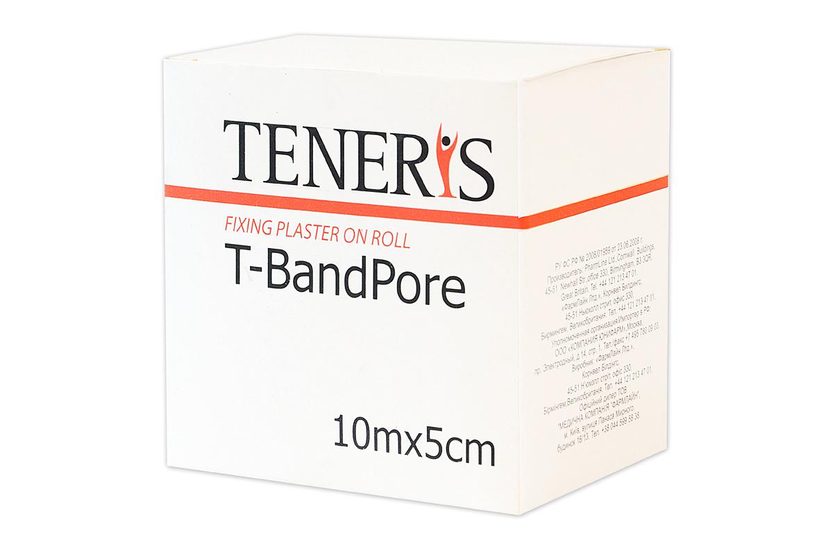 Teneris Адгезивный бинт на нетканной основе T-BandPore, д 75 х ш 50 х в 75