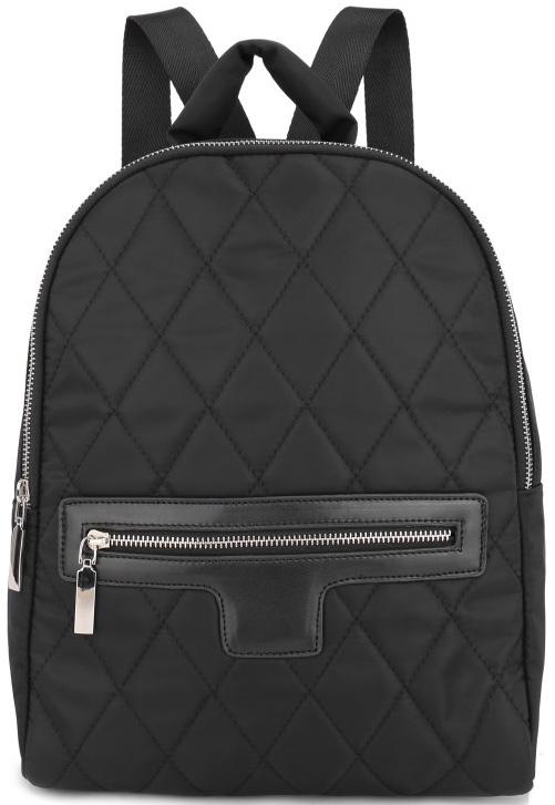 Рюкзак женский OrsOro, цвет: черный. D-261/5D-261/5Вместительный текстильный рюкзак OrsOro имеет одно отделение на молнии, внутри которого находятся два накладных кармашка под сотовый телефон или для мелочей и один прорезной карман на застежке-молнии. Снаружи обнаруживается объемный передний карман на молнии. Рюкзак обладает удобной и очень мягкой ручкой сверху для переноски и двумя регулируемыми прочными плечевыми ремнями-лямками. Яркий рюкзак из высокопрочного текстиля будет не только модным акцентом, но и очень практичным приобретением.