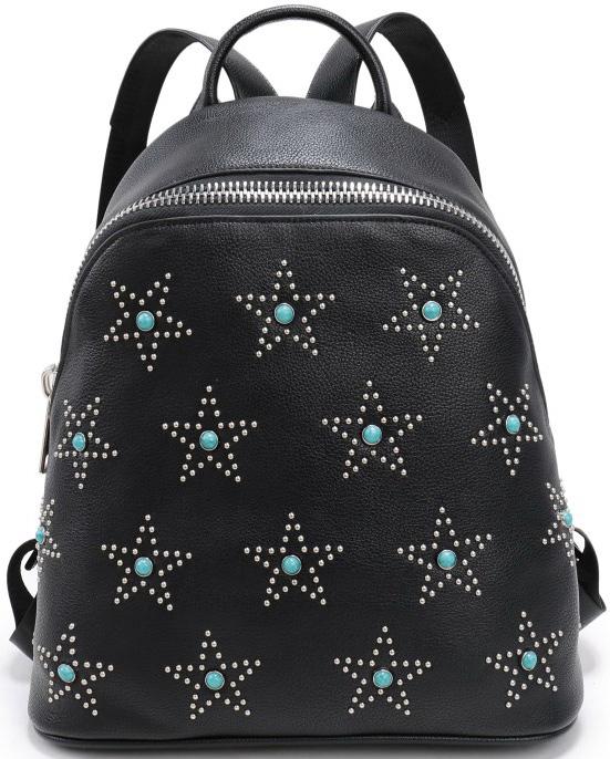 Сумка женская OrsOro, цвет: черный. D-259/1D-259/1Рюкзак с одним отделением на молнии , два внутренних кармана на молнии, карман для телефона, задний карман на молнии.