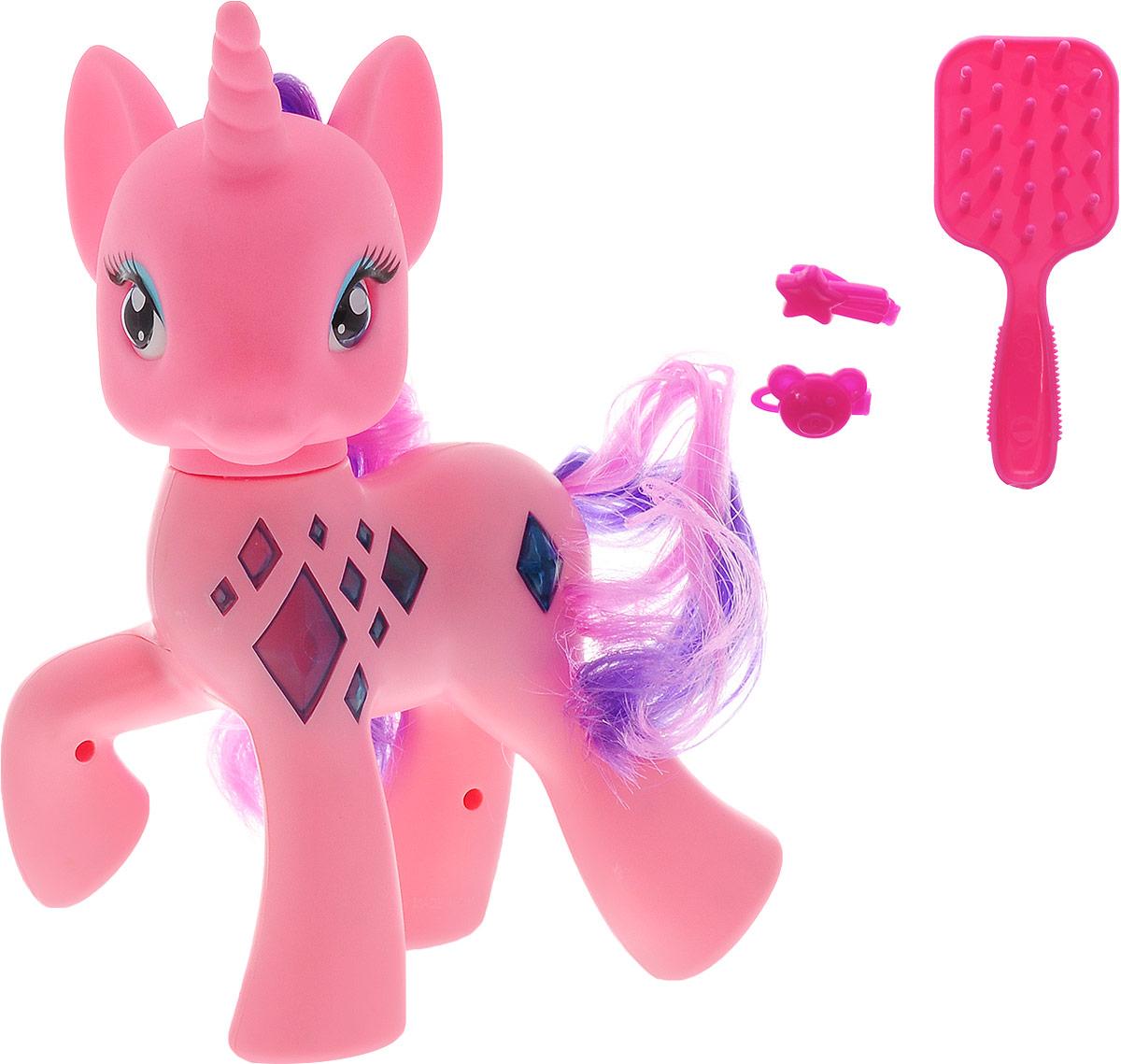 Карапуз Игровой набор Пони озвученный цвет розовый