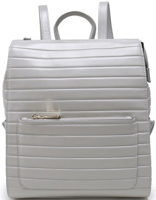 Сумка женская OrsOro, цвет: светло-серый. D-190/82D-190/82Сумка-рюкзак на молнии с одним отделением, передний карман на молнии, задний карман на молнии, два плоских боковых кармана, внутренний карман на молнии, карман для телефона