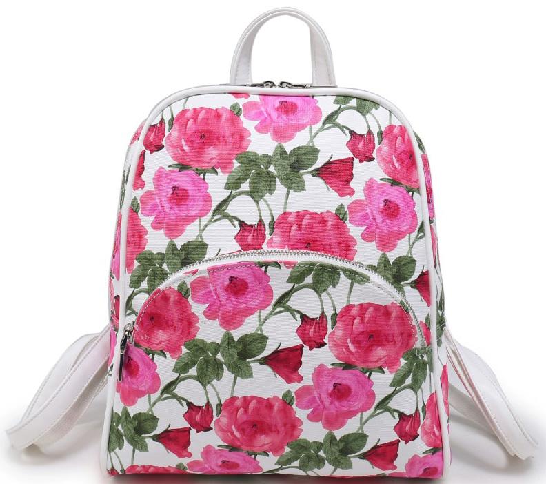 Рюкзак женский OrsOro, цвет: белый, розовый, зеленый. D-241/67D-241/67Аккуратный рюкзачок OrsOro исполнен из прочной экокожи. Имеет одно вместительное отделение на молнии. Так же в отделении присутствуют накладной широкий карман для хранения планшета, один прорезной карман на застежке-молнии, два накладных кармашка для мобильного телефона. Рюкзак обладает удобной ручкой сверху для переноски и двумя регулируемыми плечевыми ремнями-лямками. Снаружи, спереди, так же имеется объемный карман на застежке-молнии, сзади, на спинке, имеется прорезной кармашек на молнии.