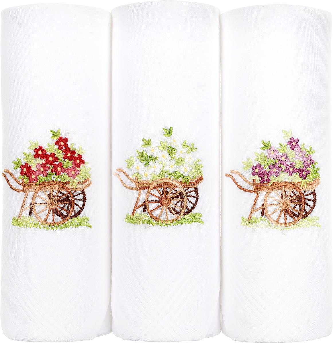 Платок носовой женский Zlata Korunka, цвет: белый, 3 шт. 06601-10. Размер 30 см х 30 см06601-10Небольшой женский носовой платок Zlata Korunka изготовлен из высококачественного натурального хлопка, благодаря чему приятен в использовании, хорошо стирается, не садится и отлично впитывает влагу. Практичный и изящный носовой платок будет незаменим в повседневной жизни любого современного человека. Такой платок послужит стильным аксессуаром и подчеркнет ваше превосходное чувство вкуса. В комплекте 3 платка.