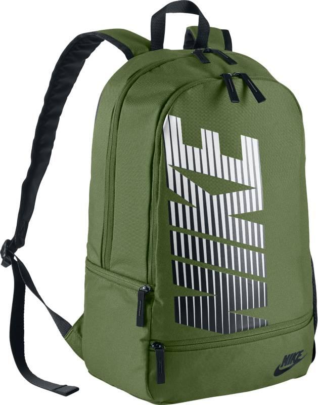Рюкзак Nike Classic North, цвет: зеленый. BA4863-387BA4863-387Рюкзак Nike Classic North - это неповторимый стиль и возможность хранить все, что тебе нужно. Рюкзак отличает вместительное основное отделение с двойной молнией и многочисленные карманы. Рюкзак из плотного полиэстера 600D с высокой износостойкостью. Мягкие регулируемые лямки и спинка для комфортного и удобного ношения. Несколько карманов для удобного хранения. Ручка для удобного ношения.