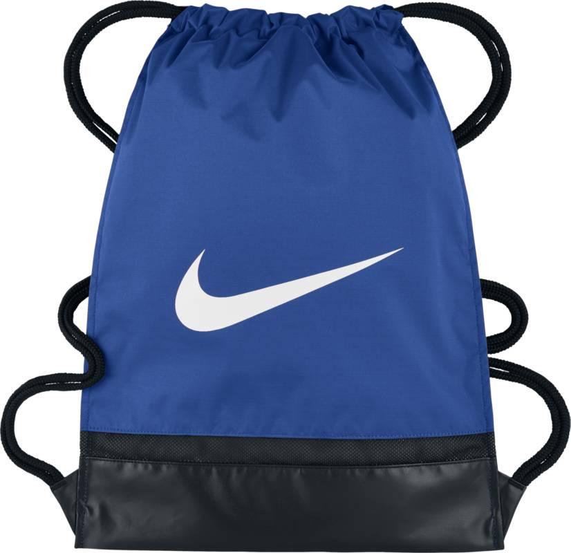 Рюкзак городской Nike Brasilia Gym Sack, цвет: синий. BA5338-480BA5338-480Утягивающий шнурок и молнии по бокам спортивного рюкзака Nike Brasilia позволяют надежно хранить экипировку и быстро получать к ней доступ. Прочная водонепроницаемая ткань плотностью 600D защищает снаряжение от влаги. Сетчатая вставка в дне усиливает вентиляцию. Молния сбоку для удобного доступа к мелким предметам. Внутренний разделитель надежно защищает экипировку.